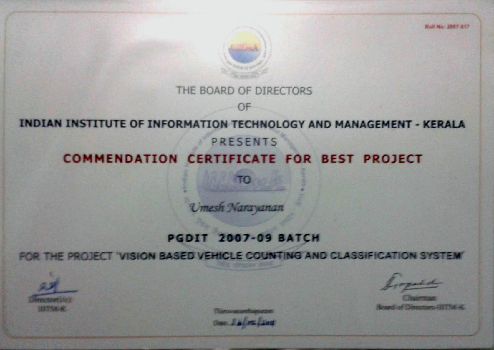 Projects Vision Based Vehicle Counting and